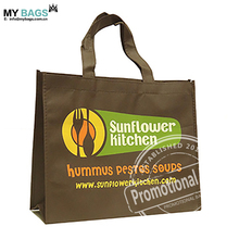 custom long handle polyester supermarket shopping bag nylon folding shopping bag laminated non woven shopping bag