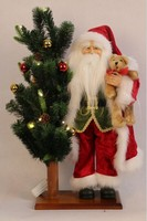 XM-A6001 20 inch indoor traditional santa hugging 24 inch lighted tree for christmas decoration