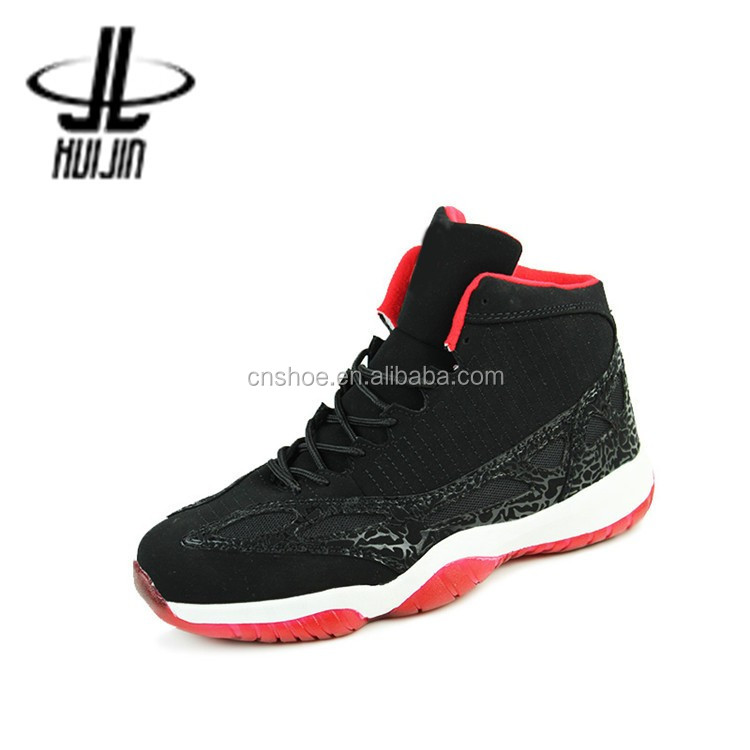 High quality comfortable space leather men basketball running shoes walking
