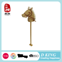 ICTI and Sedex audit new design EN71plush toys stick horses wooden stick horsemusical toy for kids