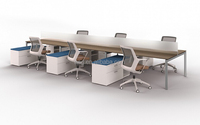 steel frame 6 person office desk