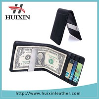 2015 Leather wholesale money clips with metal