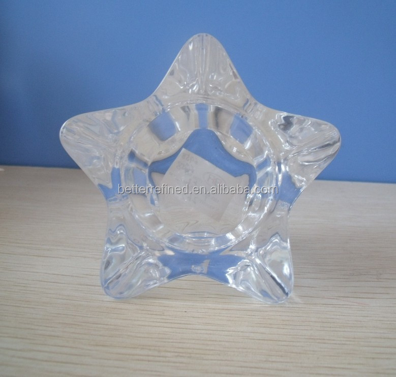 Votive Tea Lites Glass Star Candle Holder Wholesale for Home Decoration