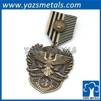 antique brass metal military medal crafts