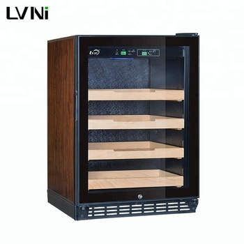 LVNI high-end 480pcs basswood cigar cabinet cooler humidor with case for sale
