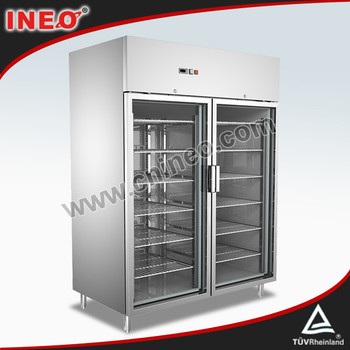 304 Stainless Steel Upright Two Doors Commercial Drink Display Fridge/Cold Drink Fridge/Drink Chiller