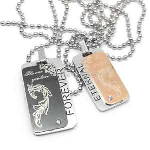 Personalized ID Army Tags Necklace Custom Stainless Steel Dog-Tag Engraved Customized Dog Tag Name Pendant Men Women Jewelry