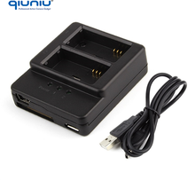 QIUNIU Dual Slot USB Charger for GoPro Hero 3 Hero 3+plus Battery AHDBT-201 AHDBT-301 AHDBT-302