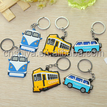 New PVC soft glue single-sided cartoon hanging key chain