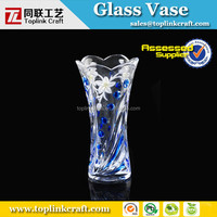 Exquisite handmade colored glass vase