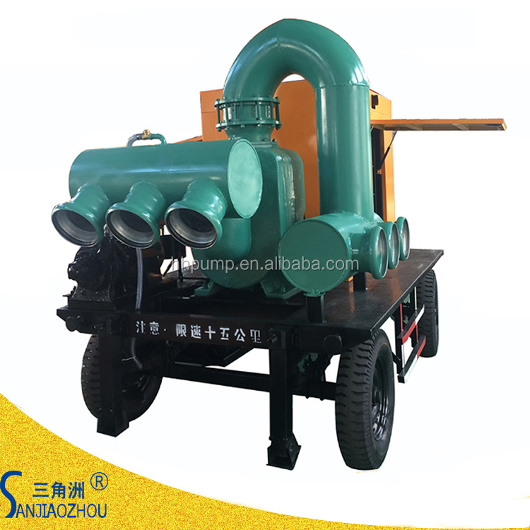 8 inch flow 280 m3/h lift head 63m self priming diesel pump for water transfer