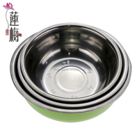 Thicken stainless steel basin big soup plate Condiment pot