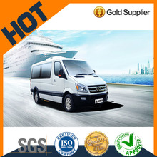 diesel chinese brand high roof Kinglong 9-19 seats mini van bus for sale