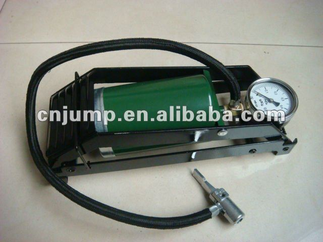 Foot pump for bicycle and car