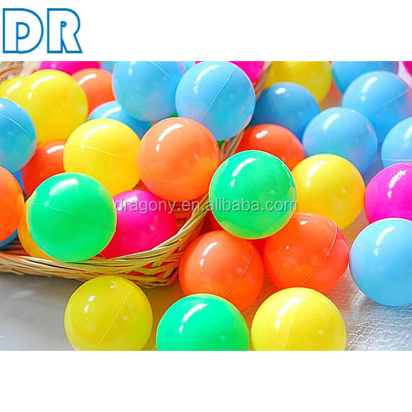 poisonless tasteless clear colorful plastic toy 5.5/7/8cm ocean ball