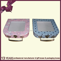 Hot sale paper gift box with transparent cover