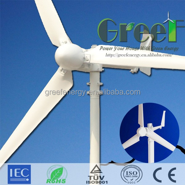 1kw, 2kw, 3kw, 5kw, 10kw wind turbine price, wind generator system with controller and inverter