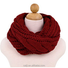 Chunky Thick Knitted Winter Warm Infinity Loop Scarf