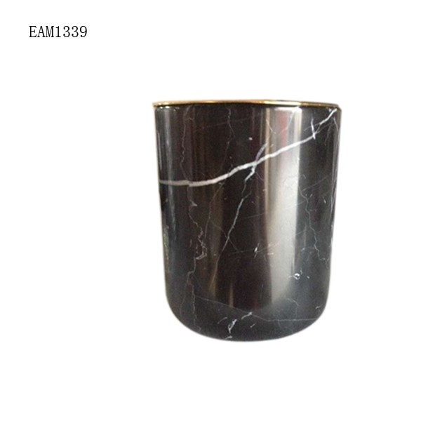 New design flower vase pot Green marble vase