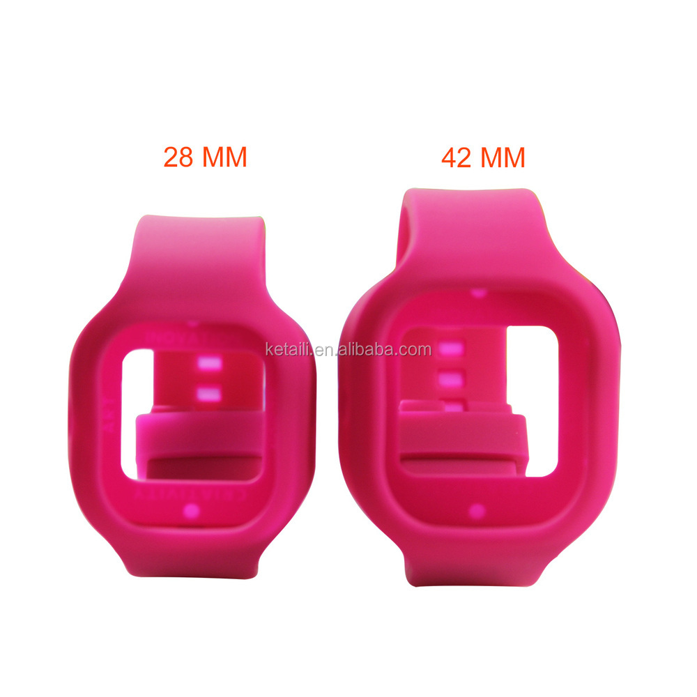 Made in China 28MM 42MM Fluororubber Silicone Watch Band & Strap Factory