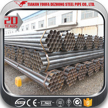 Q195 Q235 Round ERW Welded Hollow Section Steel Tube / Pipe
