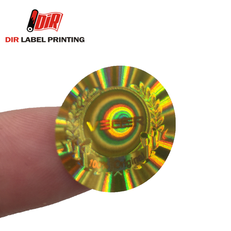 Shenzhen Security anti counterfeiting 3D hologram self - adhesive label sticker