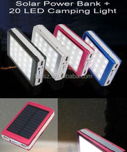 50000mAh Solar Panel Power Bank External Charger Battery Cell Phone Black 2USB