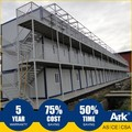 Ark Top Quality Good Price 3 Story Long Lifespan Flatpack Prefabricated Steel Mining Field Bunkhouses