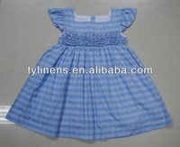 Blue check baby girl summer dresses 2014