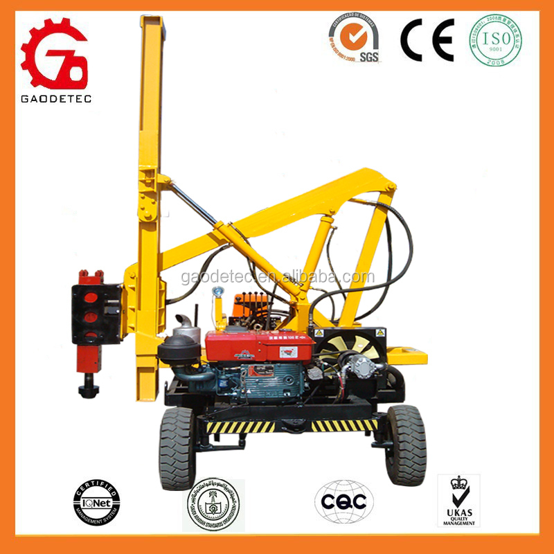 Rode Construction Wheel Type Hydraulic Used Pile Driving Equipment For Sale