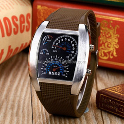 New brand high-technology custom pocket watch led speedometer watch