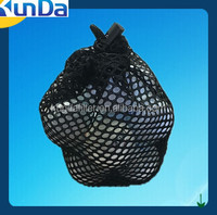 Black string golf ball mesh bag