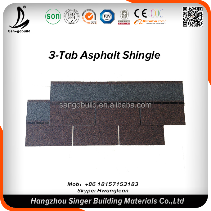 30years Guaranted Waterproof roofing material Asphalt roof felt/roof tile material price
