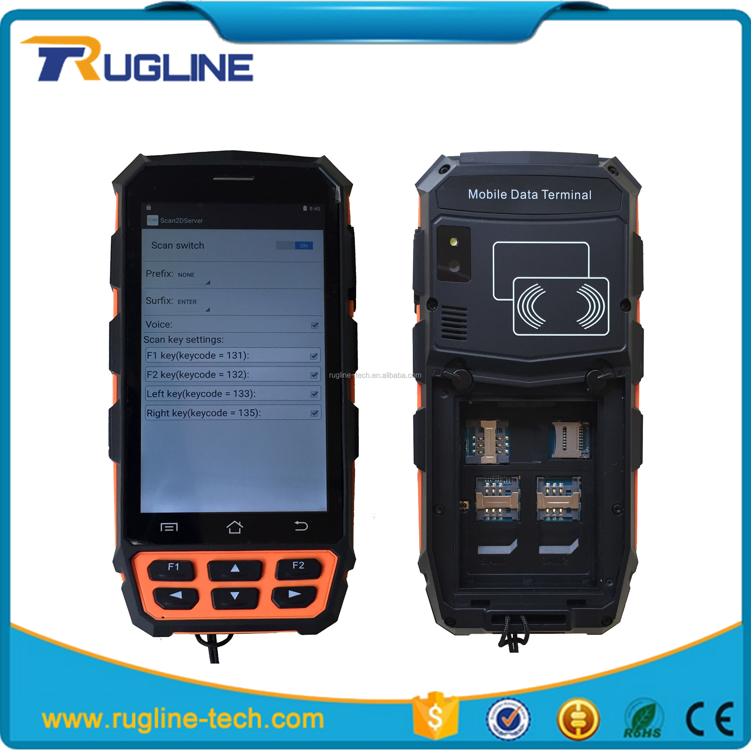 Cheap China IP65 android printer pda for supermarket