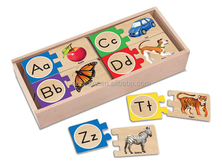 Good Wooden Toys Direct Sale DIY Matching Toy Educational Wood Puzzle Games