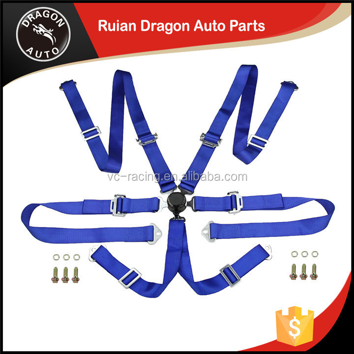 "wholesale China factory FIA 2017 Homologation Eyebolts 2"" 6 Points Camlock best quality racing safety harness"