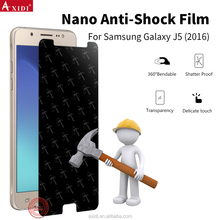 Best-selling nano anti-shock tpu film professional screen guard for Samsung j5