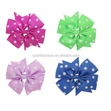 wholesale pure handmade hair ribbon bow with clip fashionable
