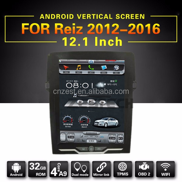 12.1 inch lcd monitor gps navigator for Toyota Land Cruiser 2016 with dvd gps radio audio stereo multimeida