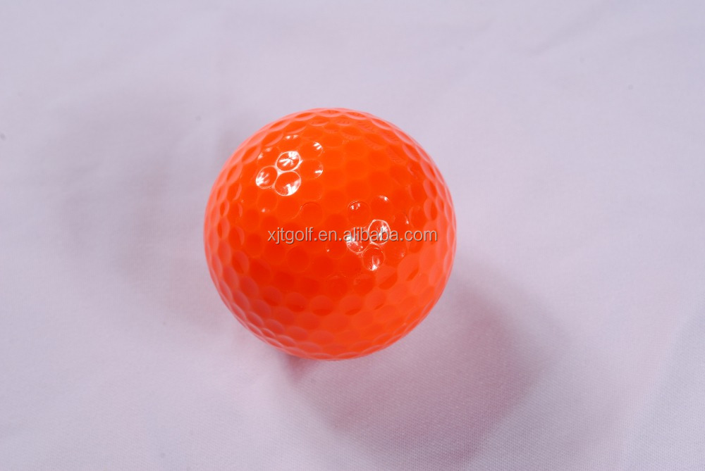 2016 Wholesale product promotion woman multicolor two layer golf ball