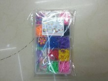 loom bands in plastic box.colorful loom bands