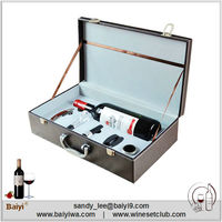 Wholesale Design Unique Bottle Leather Wine Carrier