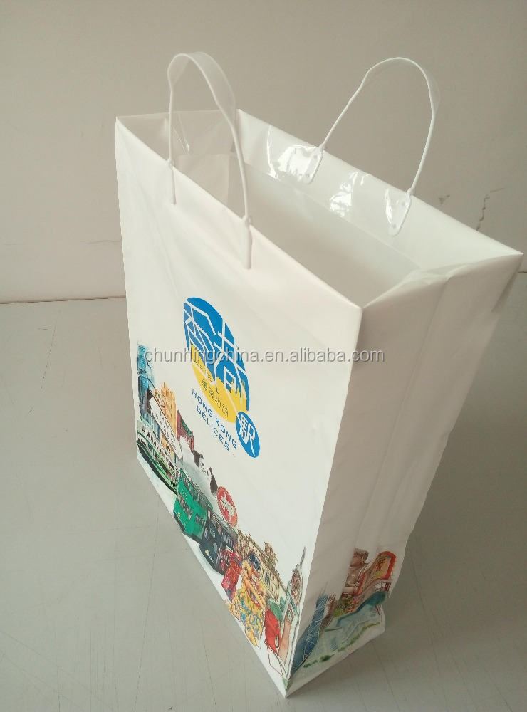 plastic clip close handle shopping bag