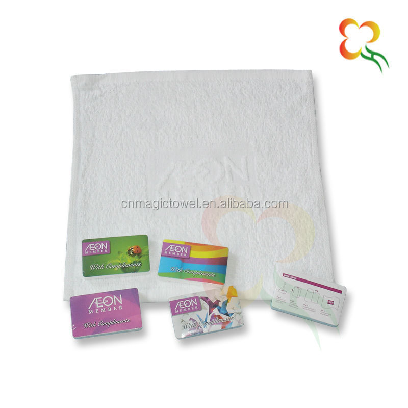 100% cotton Jacquard terry embossed logo towel