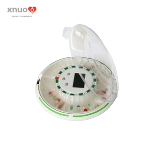 Round shape 28 day pill box monthly pill dispenser