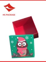 square -shaped top&bottom paper christmas gift box
