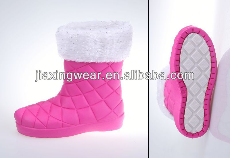 New Injection winter 2014 new fashion style boots for girls for outdoor and promotion,light and comforatable