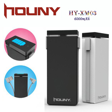 2016 Pretty Cool mobile phone accessories/power bank 6000mah/uinversal power bank mobiles/5v battery pack charger