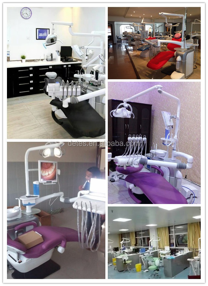 Hanging suspended electric dental chair with floor box & Faro LED light