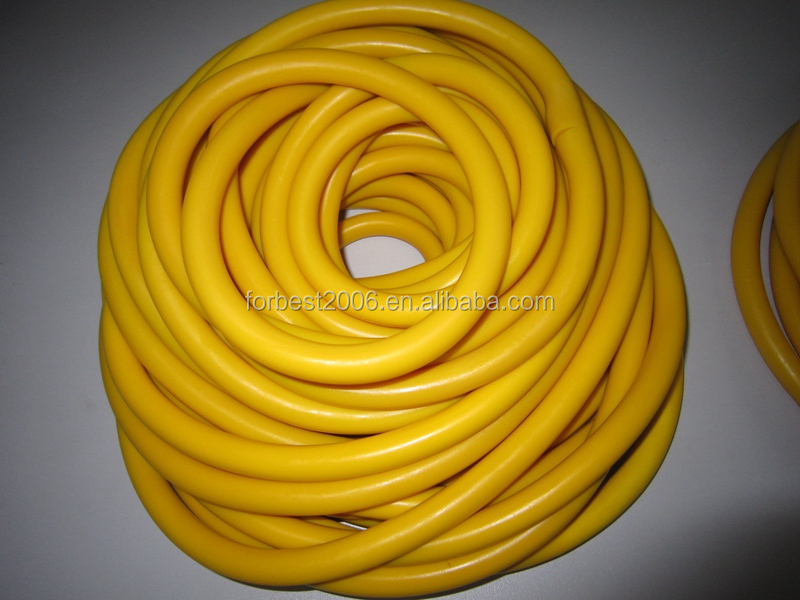 Amber natural latex rubber tube
